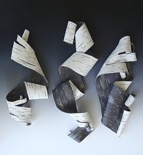 Lyricism Trio by Lenore Lampi (Ceramic Wall Sculpture)