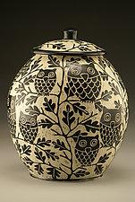 Owl Cookie Jar by Jennifer  Falter (Ceramic Cookie Jar)