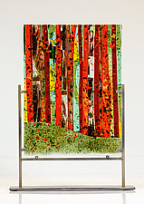 Autumn Woods Art Glass Sculpture by Varda Avnisan (Art Glass Sculpture)