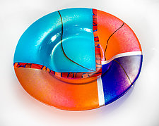 Kyoto Bowl by Varda Avnisan (Art Glass Bowl)