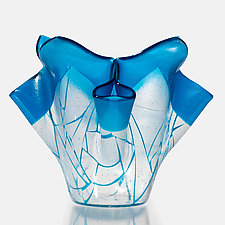 Broken Geometry Vase by Varda Avnisan (Art Glass Vase)