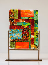Autumn Maze Art Glass Sculpture by Varda Avnisan (Art Glass Sculpture)
