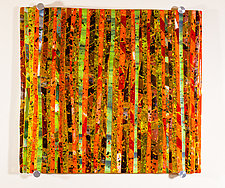 Autumn Meadow Art Glass Sculpture by Varda Avnisan (Art Glass Wall Sculpture)