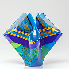 End of Summer by Varda Avnisan (Art Glass Sculpture)