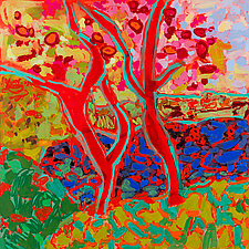 Apple Tree Forest IV by Leonard Moskowitz (Acrylic Painting)