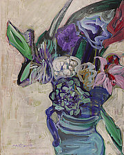 Bouquet by Leonard Moskowitz (Acrylic Painting)