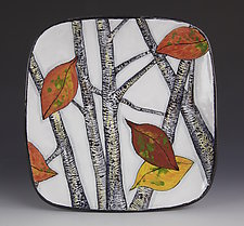 Square Aspen Plate by Farraday Newsome (Ceramic Platter)