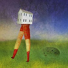 WalkingHouse by Patricia Barry Levy (Pigment Print)