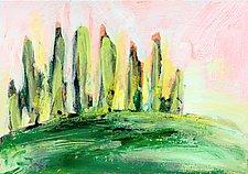 Italian Cypress III by Denise Souza Finney (Acrylic Painting)