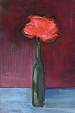 Red in a Wine Bottle by Denise Souza Finney (Acrylic Painting)