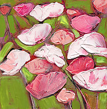 Palette Poppies Pyrrole Red by Denise Souza Finney (Acrylic Painting)