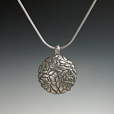 Primavera Convex Pendant by Dean Turner (Silver Necklace)