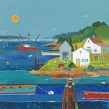 Sunny Harbor III by Suzanne Siegel (Giclee Print)