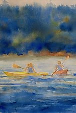 Afternoon, Paddling by Suzanne Siegel (Watercolor Painting)