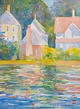 Stony Creek Reflections by Suzanne Siegel (Paintings & Drawings Watercolor Paintings)