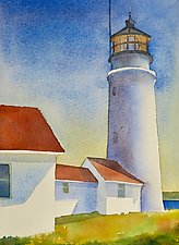 Cape Cod Lighthouse by Suzanne Siegel (Watercolor Painting)