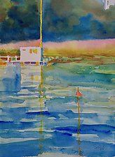Essex Harbor by Suzanne Siegel (Paintings & Drawings Watercolor Paintings)
