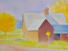 October Barns by Suzanne Siegel (Watercolor Painting)