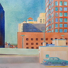 Parked by Suzanne Siegel (Watercolor Painting)