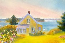 Yellow House, Summer Afternoon by Suzanne Siegel (Pigment Print)
