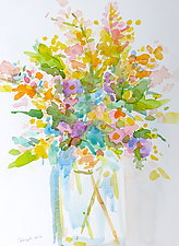 Bouquet II by Suzanne Siegel (Watercolor Painting)