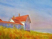 Looking to Sea V by Suzanne Siegel (Paintings & Drawings Watercolor Paintings)