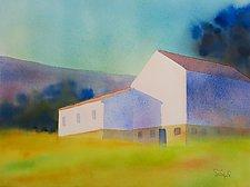 Barn Shadows by Suzanne Siegel (Paintings & Drawings Watercolor Paintings)