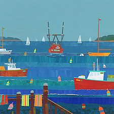 Sunny Harbor II by Suzanne Siegel (Giclee Print)