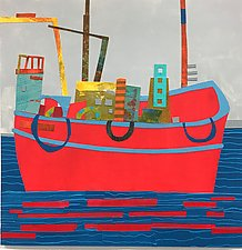 Work Boat I by Suzanne Siegel (Giclee Print)