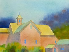 Blue Windows by Suzanne Siegel (Watercolor Painting)