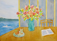 Breakfast With Matisse by Suzanne Siegel (Watercolor Painting)