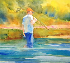 Clam Hunter II by Suzanne Siegel (Watercolor Painting)
