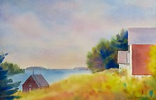 Cove, Deer Isle by Suzanne Siegel (Watercolor Painting)