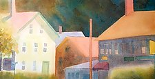 Stony Creek Village by Suzanne Siegel (Watercolor Painting)