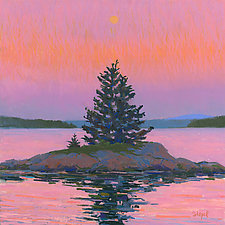 Trees on a Small Island by Suzanne Siegel (Giclee Print)