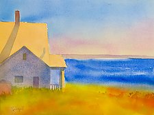 Monhegan View by Suzanne Siegel (Paintings & Drawings Watercolor Paintings)