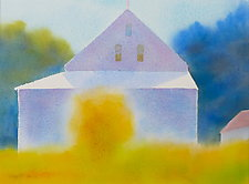 Afternoon Barn II by Suzanne Siegel (Watercolor Painting)