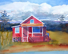 Almost Summer IV by Suzanne Siegel (Watercolor Painting)