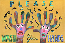 Please Wash Your Hands II by Hal Mayforth (Giclee Print)