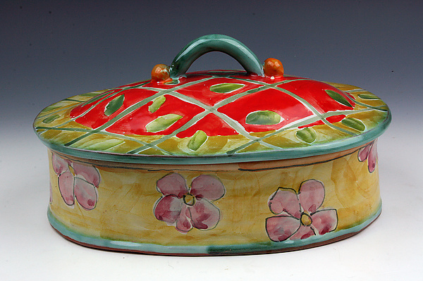 Flowers Oval Box