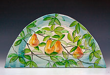 Pears Arch Tile by Peggy Crago (Ceramic Wall Sculpture)