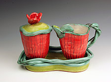 Sugar and Creamer on Tray by Peggy Crago (Ceramic Serving Ware)
