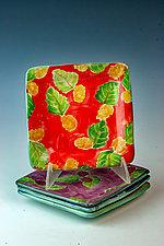 Berry Dessert Plates by Peggy Crago (Ceramic Serving Piece)