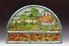 Garden Tea by Peggy Crago (Ceramic Wall Sculpture)