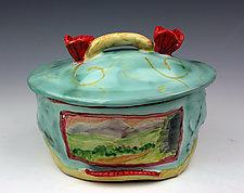Colorado Oval Box by Peggy Crago (Ceramic Boxes)