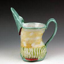 Oval Pitcher II by Peggy Crago (Ceramic Pitcher)