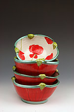 Poppy Dessert Bowl by Peggy Crago (Ceramic Bowls)