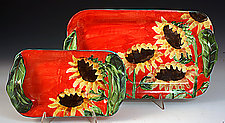 Sunflower Trays by Peggy Crago (Ceramic Tray)