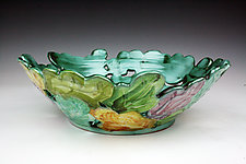 Leaves 2 by Peggy Crago (Ceramic Bowl)
