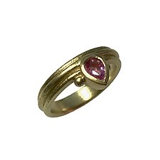 Pink Pear Sapphire Ring by Susan Barth (Gold & Stone Ring)
